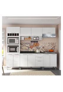 Cozinha Compacta Genialflex Isadora Branco Brilho Com Tampo