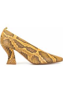 Bottega Veneta Scarpin Bico Arredondado - Amarelo
