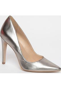 Scarpin Metalizado- Ouro Velho- Salto: 11Cmluiza Barcelos