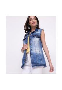 Colete Em Jeans   Marfinno   Azul   G