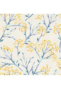 Papel De Parede Stickdecor Adesivo Floral Amarelo 100Cm L X 300Cm A - Amarelo - Dafiti