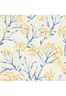Papel De Parede Stickdecor Adesivo Floral Amarelo 100Cm L X 300Cm A