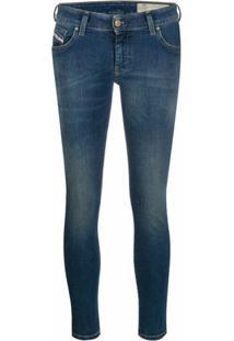 Diesel Calça Jeans Skinny Com Efeito Desbotado - Azul