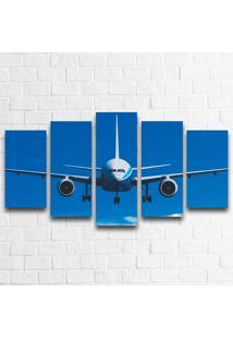 Quadro Decorativo Avião Frontal