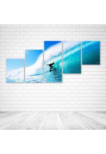 Quadro Decorativo - Sky Sea Ocean Waves - Composto De 5 Quadros - Multicolorido - Dafiti