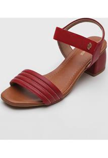 Sandália Usaflex Matelassê Vermelha