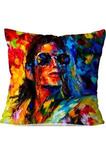Capa De Almofada Avulsa Decorativa Pop Art Michael Jackson 45X45Cm