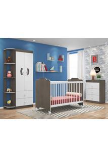 Dormitório Infantil Ternura Malbec/Branco - Lc Móveis