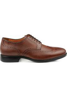 Sapato Social Mr. Cat Business Royal Light Inglês Masculino - Masculino-Marrom Escuro