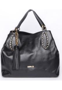 Bolsa Saco Com Ilhoses - Preta- 27X32X16Cm - Ggriffazzi