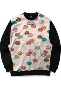 Blusa Bsc Donuts Full Print - Masculino-Preto