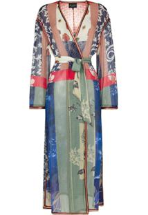 Etro Belted Patterned Silk Robe - 108 - Multicoloured