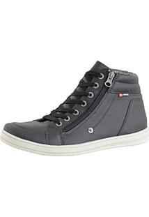 Tênis Cr Shoes Casual Cano Médio Sapatofran Com Zíper Preto