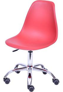 Cadeira Eames Dkr Rodizio- Telha & Prateada- 93X47X4Or Design