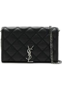 Saint Laurent Ysl Chain Wallet - Preto