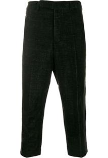 Rick Owens Slim Cropped Trousers - Preto