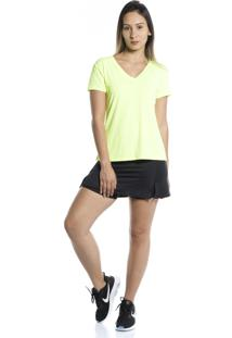 Camiseta Manga Curta Pinyx Gola V Amarelo