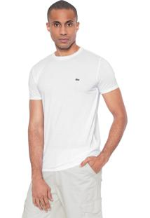 Camiseta Lacoste Regular Fit Gola Redonda Branca