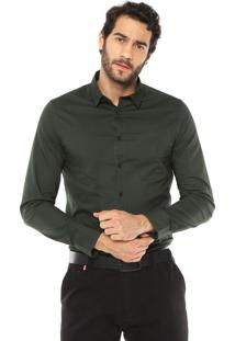 Camisa Calvin Klein Jeans Slim Fit Verde