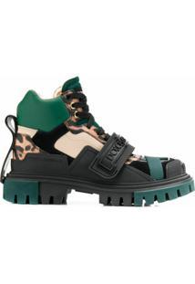 Dolce & Gabbana Bota De Caminhada Com Logo - Preto