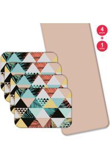 Jogo Americano Love Decor Com Caminho De Mesa Wevans Exotic Kit Com 4 Pçs 1 Trilho