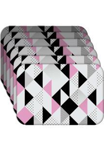 Jogo Americano - Love Decor Triângulos Kit Com 6 Peças - Kanui