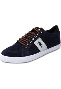 Sapatênis Club Polo Collection Oxford Azul