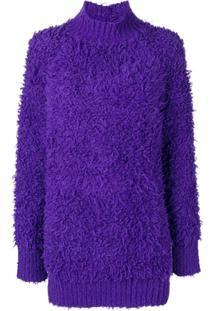 Marni Suéter Oversized Com Textura - Roxo