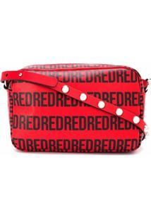 Redvalentino Bolsa Transversal Com Estampa De Logo - Vermelho
