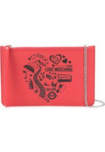 Love Moschino Clutch London - Vermelho