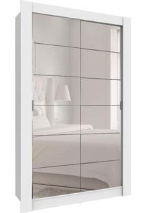 Guarda-Roupa Solteiro Com Espelho Angatuba 2 Pt 2 Gv Branco