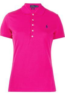 Polo Ralph Lauren Camisa Polo Com Logo Bordado - Rosa