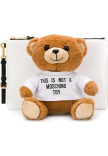 Moschino Clutch Teddy Bear - Branco