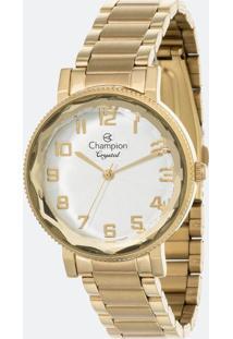 Kit Relógio Feminino Champion Cn25596B Analógico + Conjunto Semijóia