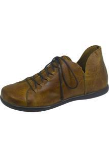 Sapato S2 Shoes Retrô Couro Mostarda