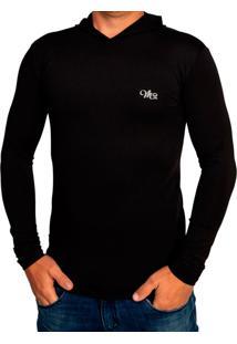 Camiseta Mprotect Térmica Capuz Manga Longa Preta