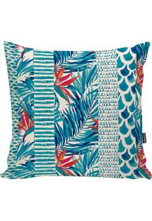 Capa De Almofada Tropical- Azul & Off White- 42X42Cmstm Home