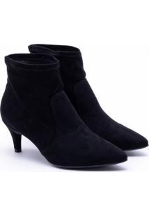 Ankle Boot Sandra Nobuck Preta 34