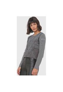 Blusa Calvin Klein Jeans Listrada Preta