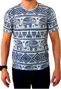 Camiseta Ops Elefante Étnico Estampada