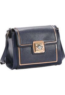 Bolsa Feminina Chenson Detalhe Verniz Transversal Azul Marinho 3482883
