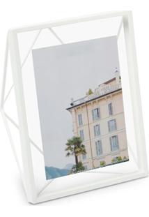 Porta Retrato Em Metal Garden 20X15Cm Branco