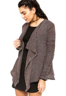 Cardigan Volcom Swayed Wrap Marrom/Preto
