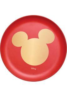 Prato De Sobremesa Disneyâ® Classic- Vermelho & Dourado