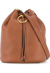 Marni Drawstring Bucket Bag - Marrom