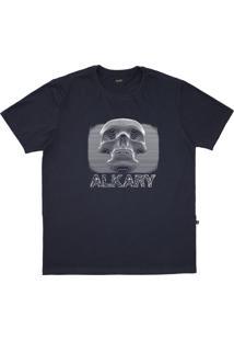 Camiseta Alkary Caveira 3D Chumbo