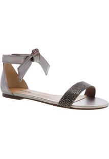 Sandália Nó Minimal Glam Prata Velha | Anacapri