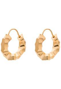 All Blues Carved Mini Hoop Earrings - Dourado