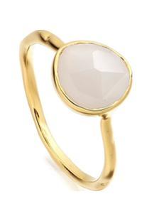 Monica Vinader Gp Siren Moonstone Stacking Ring - Dourado