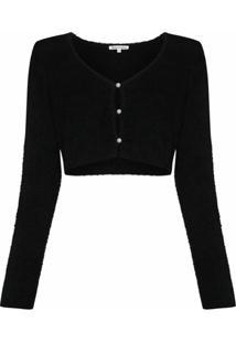 Reformation Cardigan Cropped Lotte - Preto